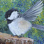 Chickadee Landing Art Print