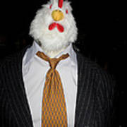 Chicken Man Art Print