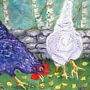 Chicken Neighbors Art Print