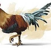 Chickenosaurus, Artwork Art Print