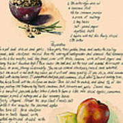 Chickpeas Soup With Apples Art Print by Alessandra Andrisani