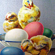 Chicks And Eggs Art Print