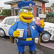Chief Clancy Wiggum From The Simpsons Art Print
