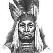 Chief Curly Bear Art Print by Lee Updike