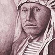 Chief Red Tomahawk Art Print by Billie Bowles