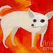 Chihuahua En Fuego Art Print