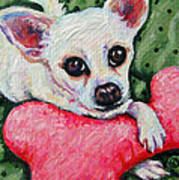 Chihuahua Who Came To Visit Art Print