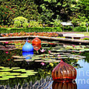 Chihuly Ball Lily Pond Art Print