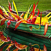 Chihuly Boat Art Print by Diana Powell
