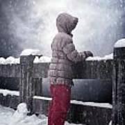 Child In Snow Art Print