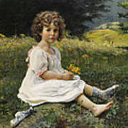 Child In The Meadow Art Print