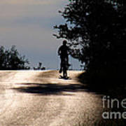 Child On Bicycle, Italy Art Print