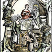Childbirth, 1499 Art Print