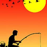 Childhood Dreams 3 Fishing Art Print
