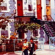Childhood Montreal Memories Balconies And Bikes The Boys Of Summer Our Streets Tell Our Story Art Print