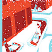 Snowplows Art Print