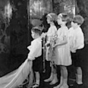Children In A Wedding Procession Art Print