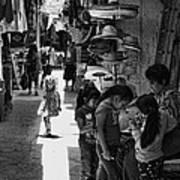 Children In The Rosarito Art Shops Art Print