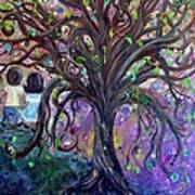 Children Under The Fantasy Tree With Jackie Joyner-kersee Art Print