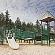 Childrens Playground At Lake Merwin Park Art Print