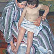 Child's Bath 1893 Print by  Mary Stevenson Cassatt