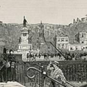 Chile. Valpara�so. Square In 1891 Art Print