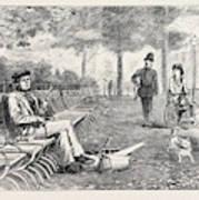Chill October Rotten Row 1871 Art Print