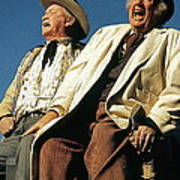 Chill Wills And Andy Devine Singing Atop A Stagecoach Old Tucson Arizona 1971 Art Print