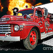 Chilliwack Fire-coming Out Into The Fire Art Print