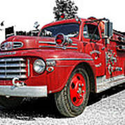 Chilliwack Fire- Mercury Firetruck Art Print