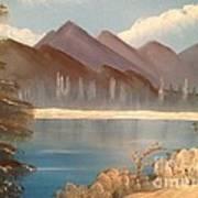 Chilly Mountain Lake Art Print