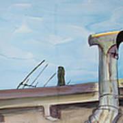 Chimney Pipe And Berkeley Sky Art Print