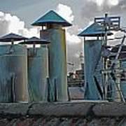 Chimney Pots Art Print