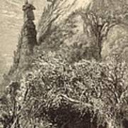 Chimney Rock At Hickory-nut Gap 1872 Engraving Art Print