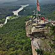 Chimney Rock Overlook Art Print