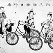 China Bicyclists, C1900 Art Print