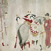 China Concubine & Horse Art Print