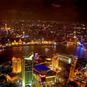 China Shanghai At Night  Art Print