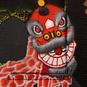 Chinatown Dragon Mural Art Print