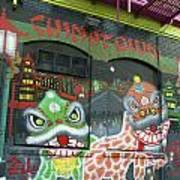 Chinatown Foo Dog Mural Art Print