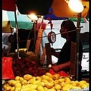 Chinatown Fruit Vendor Art Print