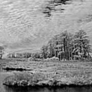 Chincoteague Island Infrared Pano Art Print
