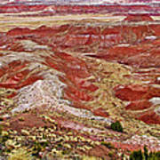 Chinde Point In Painted Desert In Petrified Forest National Park-arizona Art Print