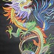Chinese Fire Dragon Art Print
