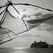 Chinese Fishing Net Art Print