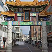 Chinese Gate To The Chinatown  Art Print