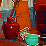 Chinese Kitchen Cookware Art Print
