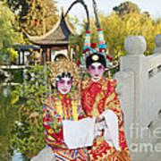 Chinese Opera Children - Traditional Chinese Opera Costumes. Art Print