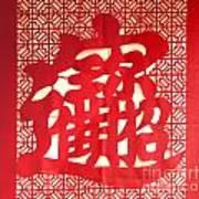 Chinese Ornamental Character Art Print