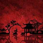 Chinese Red Art Print